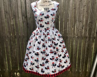 Ariene Dress in Lumberjack Beaver Fabric