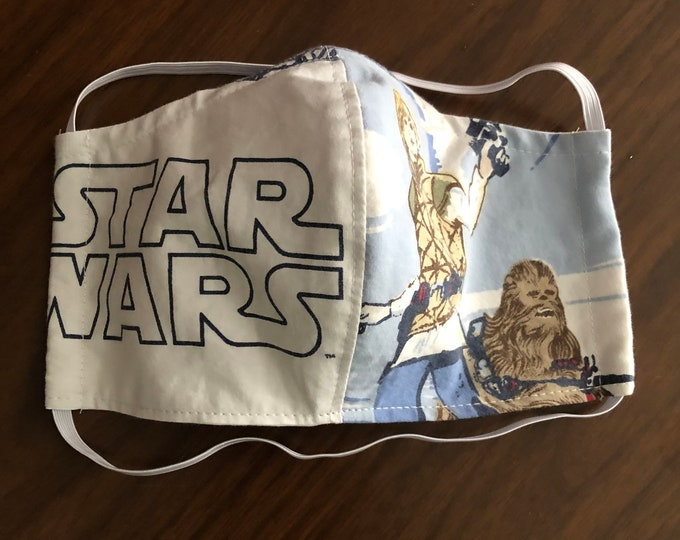 Face Mask Made From Star Wars Bedsheets