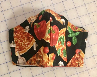 Face Mask Made From Delicious Pizza Fabric