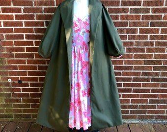 Midge Dress with Pockets & Coat in Vintage Floral Bedsheets/Vintage Fabric