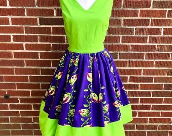 Lime Green & Venus Flytrap Dress