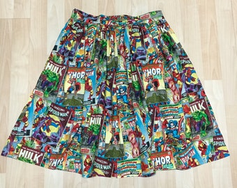 Skirt Made with Comic Book Superhero Fabric