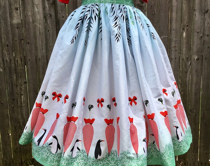 Jolly Holiday Border Skirt