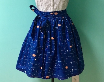 Gathered Skirt Made with Disney Pixar Finding Dory Fabric