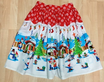 Christmas Gnomes Skirt