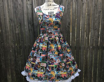 Claudia Dress in Star Wars Comic Book Fabric