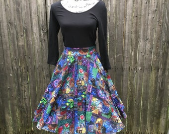 Beauty and the Beast Stained Glass Full Circle Skirt