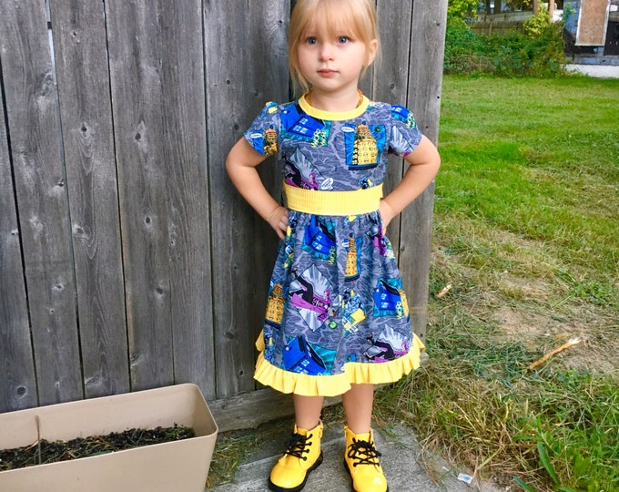 Dress Made with Doctor Who Fabric