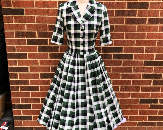 Laurie Half Sleeve Shirtwaist Dress with 50% Fuller Skirt and Pockets