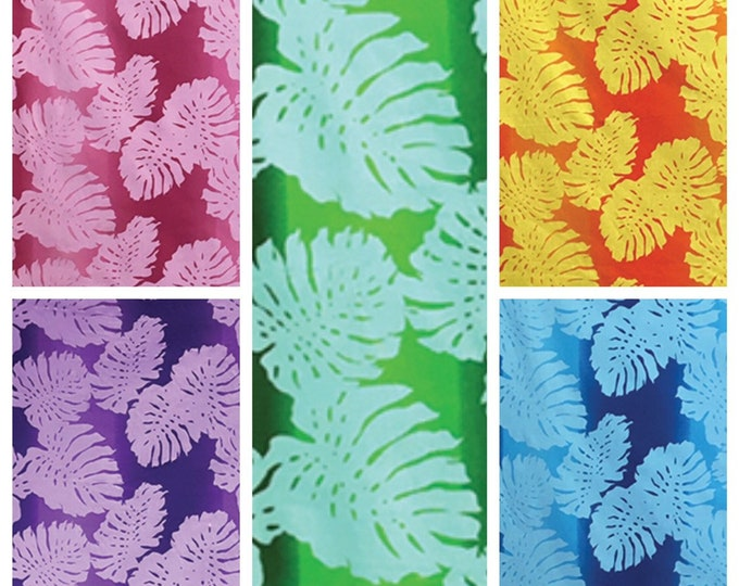 Tropical Hawaiian Monstera Gradient Fabric