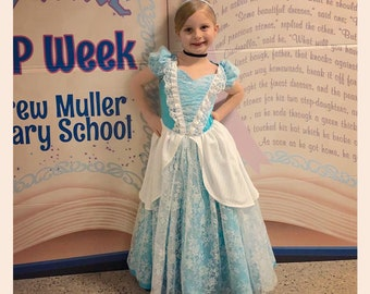Child Size Transforming Cinderella Style Rag Dress to Gown