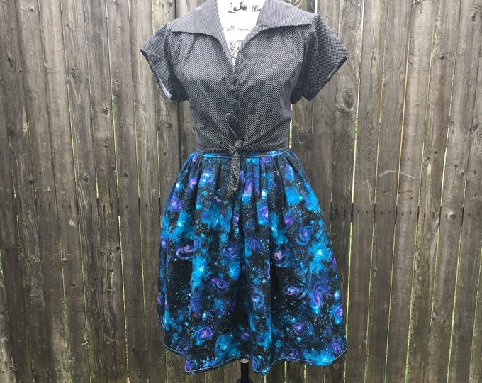 Stargrazers Space Dust Galaxy Skirt