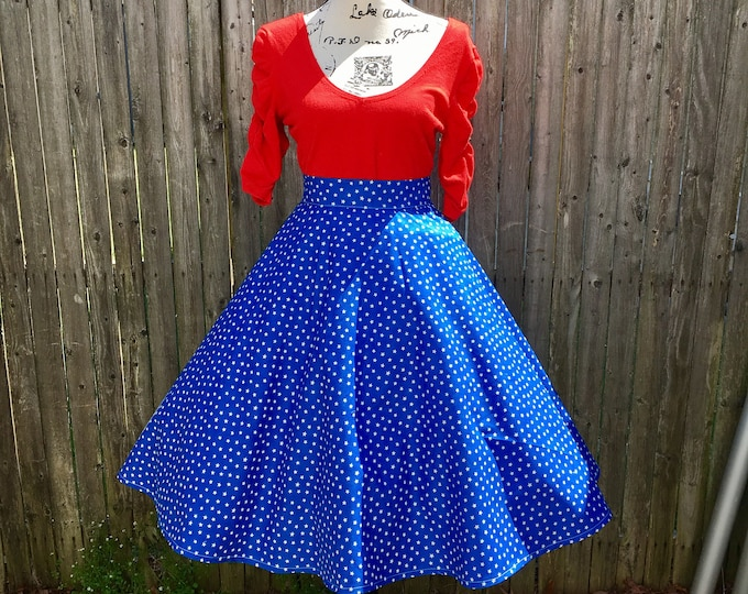 Wonder Woman Blue And White Stars Skirt