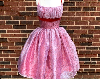 Vintage Reproduction 1950's Dress with Gathered Bust for Valentine's Day