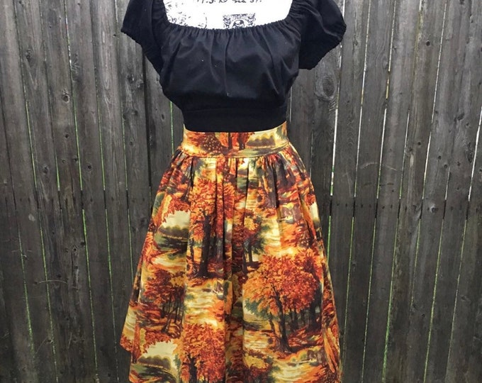 Mystery Retro Swing Skirt with Pockets in Suprise Fabric