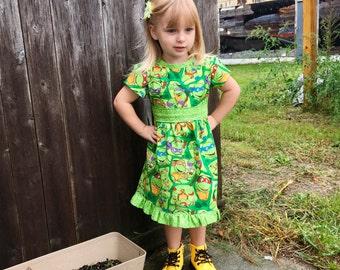 Dress Made with Teenage Mutant Ninja Turtles Fabric