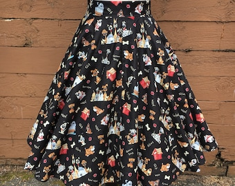 A Dog's Life Circle Skirt with Pockets