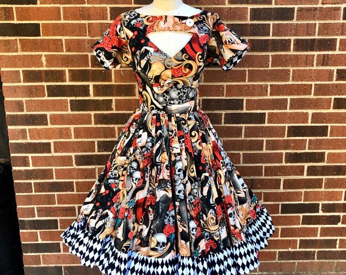 Morgan Dress in Las Elegantes Fabric
