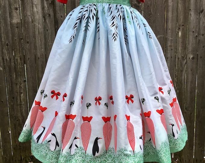 Jolly Holiday Border Skirt