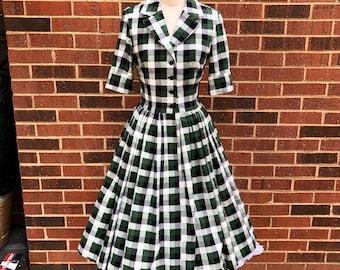 Laurie Half Sleeve Shirtwaist Dress with 50% Fuller Skirt and Pockets