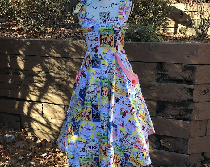 Christy Sweetheart Dress Made with Classic Disney Poster Fabric