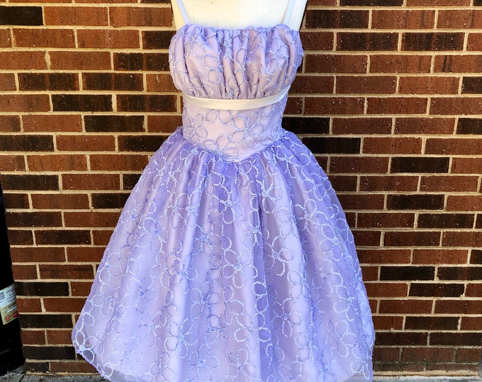 Vintage Reproduction 1950's Princess Bodice Prom Gown with Gathered Bust