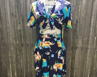 1940's Vintage Reproduction Two Piece Lulu Playsuit