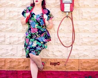 Sweetheart Draped Wiggle Dress with Bolero