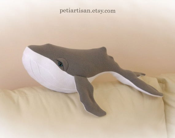 Humpback Whale Pillow Stuffed Animal Whale Plush Toy Whale Etsy