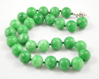 18-21 Charm 29Strands Shiny Turquoise Green Seed Glass Beads Hand Necklace Choker Necklace