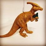 Dinosaur Ornament Upcycled Christmas Yule Holiday