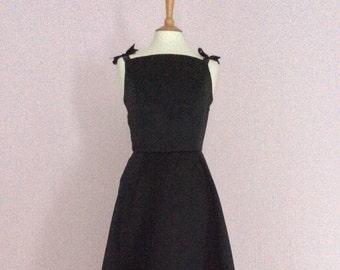 Vintage made to order black Audrey Hepburn dress