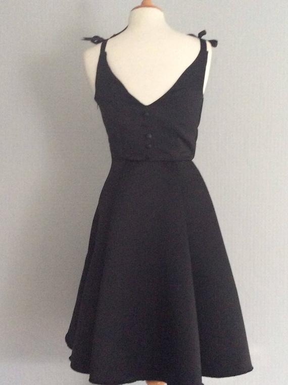 Audrey Hepburn Inspired V Shaped Back Fit And Flare Dress Etsy