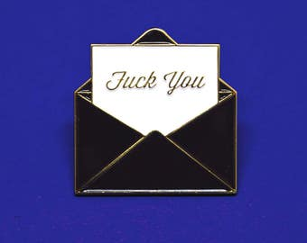 Fuck You Soft Enamel Pin // Cute Pin // Pins //  Enamel Pin // Gifts for her // Gift for Him // Gift ideas // Lapel Pin