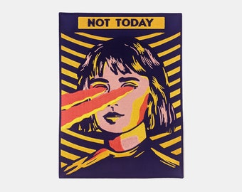 Not Today Iron On Patch // Large Back patch // Woman Patches//  Iron On //  Gift ideas // Embroidered Patch // Laser