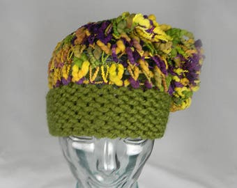 076bc67e894 Hand knit slouch hat