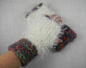 Wrist Warmers, Hand Knit Wrist Warmers, Texting Gloves, Texting Mittens, Fingerless Gloves, Fingerless Mittens