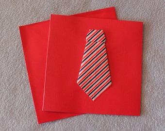 Origami 254 tie card
