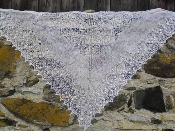 Dreieckige Spitze Schal Hand gestrickte Spitze Schal Schal | Etsy