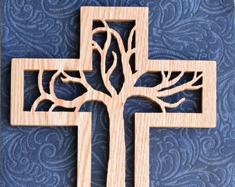 The Tree Wooden Wall Cross
