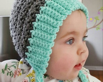 Crochet Seedling Pixie Bonnet, Baby Pixie Hat, Elf Hat for Babies, Crochet Baby Bonnet, Baby Photo Prop, Baby Shower Gift