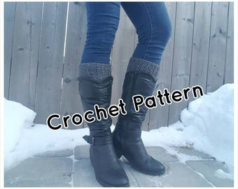 Crochet Boot Cuffs PATTERN, Boot Socks, Boot Toppers -  Instant Download - 4 Sizes - PDF Pattern - Make it yourself - Pattern #12
