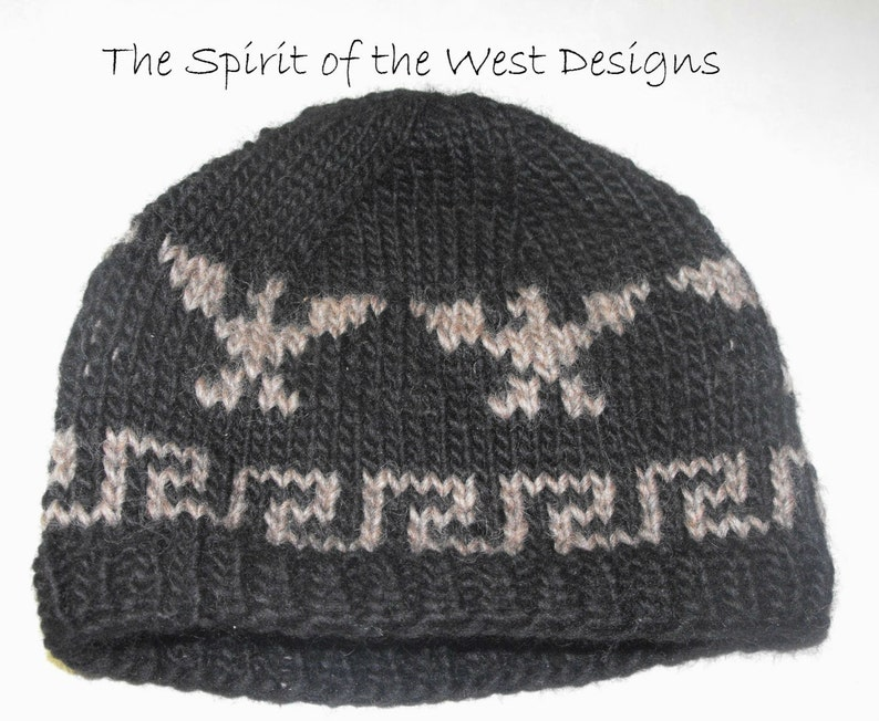 1c6f5b7a7ad Knitting Pattern Cowichan Style Eagle Hat knit hat Toque