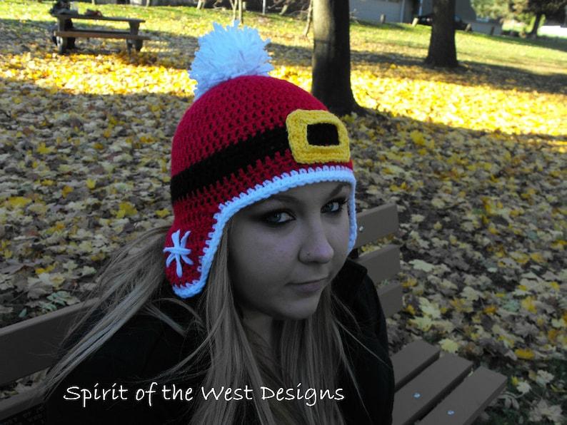 706388a204a Holly Jolly Hat Crochet Pattern Christmas Xmas Santa beanie