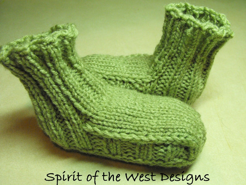Ribbed Slippers knitting pattern 7 sizes Toddler child ...