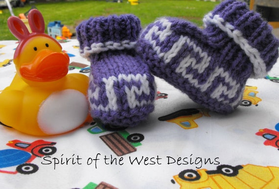 Northwest Baby Booties Knitting Pattern Knit Bootees Slippers Etsy
