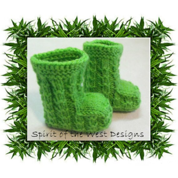 Bambooties Knitting Pattern Baby Booties Knit Bootees Slippers Etsy