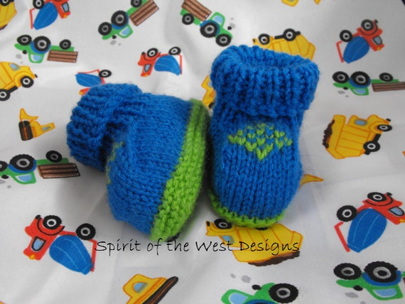 Knit Baby Booties Knitting Pattern Knitted Bootees Slippers Etsy
