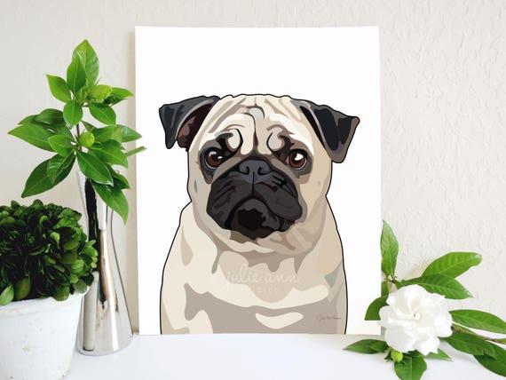 Pug Art Print Quote Print Love /& A Pug Pug Art Animal Art Print