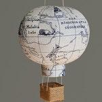Travel Nursery Decor, Hot Air Balloon, Nursery Decor, Baby Gifts - Navy Map